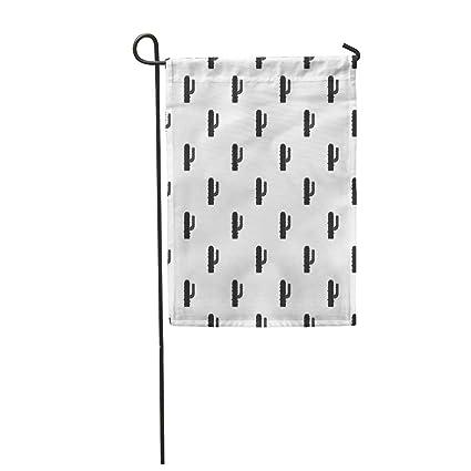Amazon com : Semtomn Garden Flag Arid Mexican Cactus Pattern