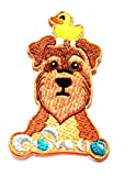 3.2'' X 2.4'' Cute Dog with Yellow Duck on Head