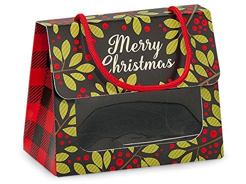 Christmas Plaid Window Tote (6 Pack) 5-1/8x2-5/8x4-1/4''