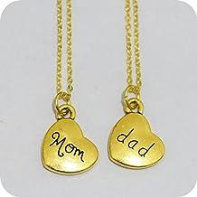 Dad Mom , Dad Mom Necklace, Personalized Dad Mom Necklace, Dad Mom Memorial Necklace, Dad Mom Birthstone Necklace in Memory of Dad Mom