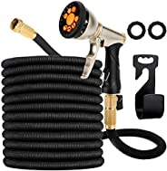 Garden Hose Expandable, Leakproof Lightweight, Retractable Collapsible Water Hose with 9 Function Zinc Spray H