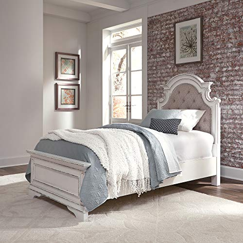Liberty Furniture Industries 244-YBR-TUB Magnolia Manor Twin Upholstered Bed, White ()