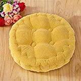 H.S.D Round Thickened Pearl Cotton Filled Seat Chair Pads Cushion for Home Office Dinning Chair Yellow