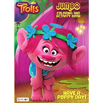 Amazon.com: Dreamworks Trolls Have A Poppy Day Jumbo Coloring and ...