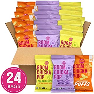 product image for Angie's BOOMCHICKAPOP Gluten Free Sea Salt Popcorn, 0.6 Ounce Vegan Snack Pack Bags