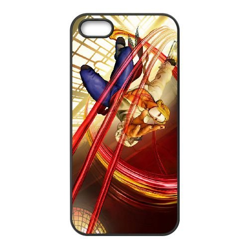 UI47 street fighter v W2G1WO coque iPhone 5 5s cellulaire cas de téléphone couvercle de coque XD8HPD3MJ noir