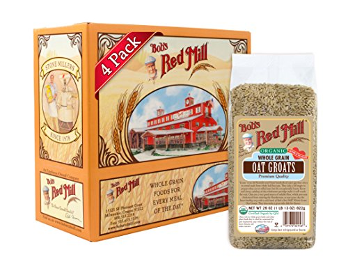 Bob's Red Mill Organic Oats Whole Groats, 29 Ounce (Pack of 4)