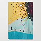 Society6 Wooden Cutting Board, Rectangular, Sunshine Dance by aprilnicole