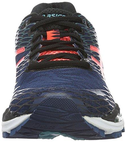 Scarpe Da Corsa Blu Asics Gel-nimbus 18 (poseidon / Flash Coral / Nero)