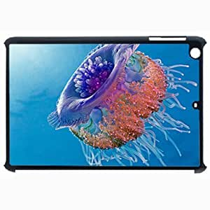 Customized Back Cover Case For iPad Air 5 Hardshell Case, Black Back Cover Design Jellyfish Personalized Unique Case For iPad Air 5
