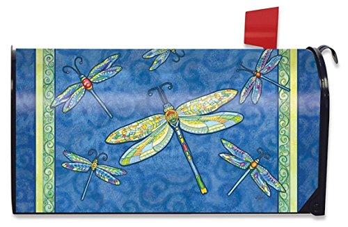 Dragonfly Flight Spring Large Mailbox Cover Oversized Briarwood Lane