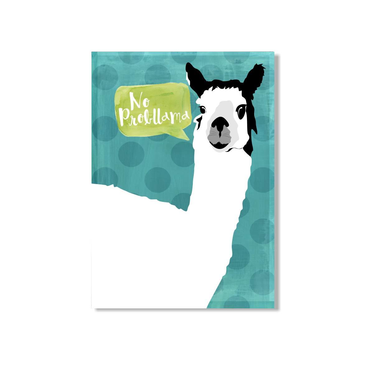 No prob llama Birthday pun cards Funny Llama Card Punny Llama Card Llama lovers gift No probllama card