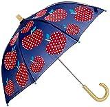Hatley Girls' Little Printed Umbrellas, Polka Dot Apples One Size