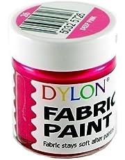 Dylon Colorante Pittura Per Tessuti Rosa Scuro Flacone da 25 ml