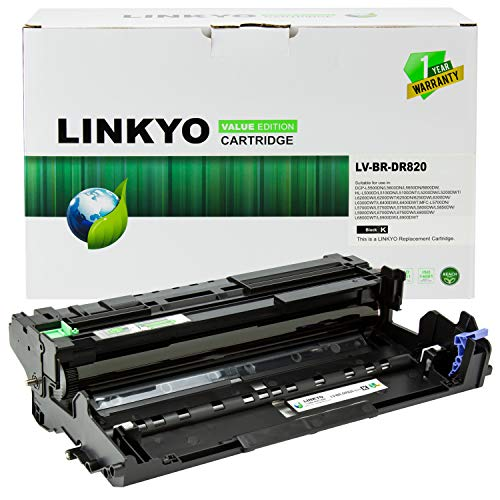 LINKYO Compatible Drum Unit Replacement for Brother DR820 DR-820 (Value Edition)