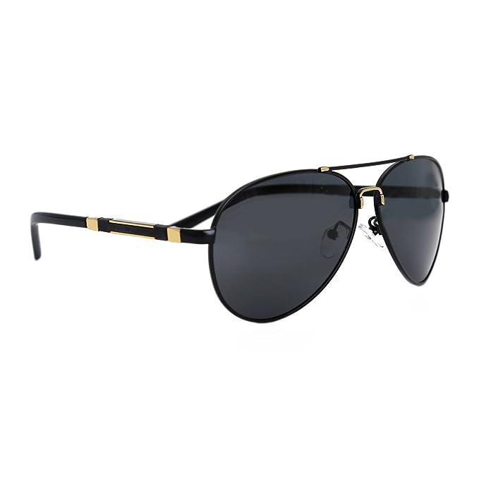 7c03435a68 Natwve Co Aviator Sunglasses Polarized Mirror UV 400 Production Lens For  Mens Womens 60mm (Black