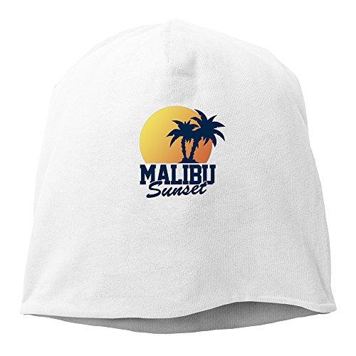 Men Women Vintage Malibu Sunset Beanies Hat Skull Caps