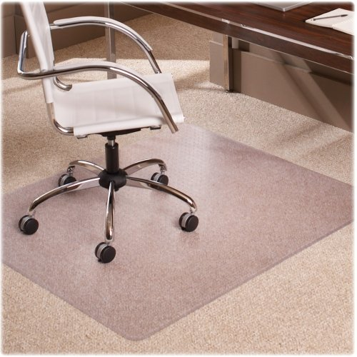 ES Robbins 128371 46x60 Rectangle Chair Mat, Multi-Task Series AnchorBar for Carpet up to 3/8-Inch