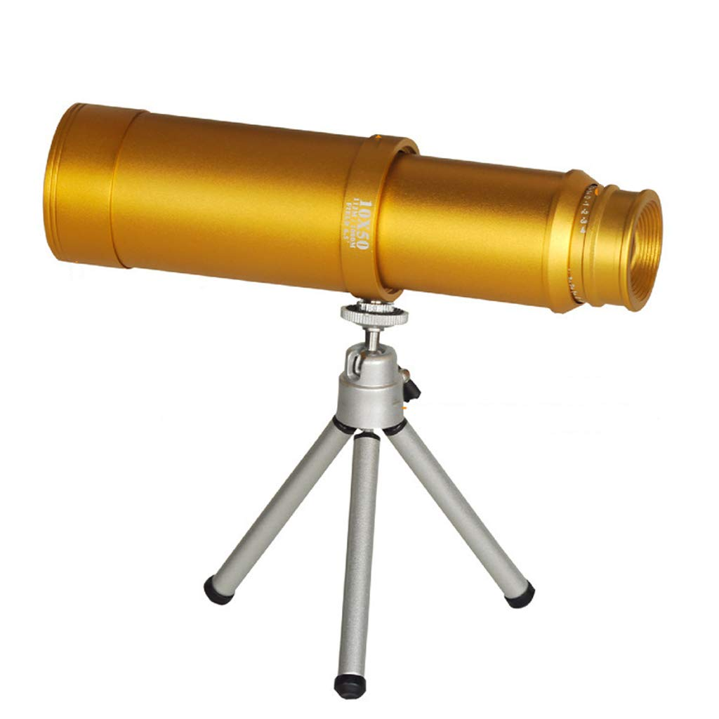 YJXJJD New Wide-Angle Large Eyepiece Stretch Portable High-Definition High-Power 10X50 Single-Tube Outdoor Telescope by YJXJJD