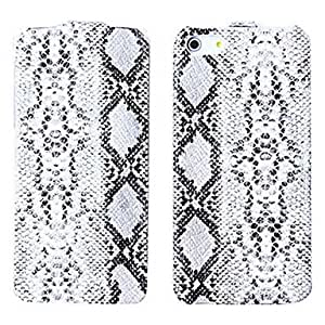 Snakeskin Pattern Leather Regulus Series Leather Case for iPhone 5S , Black