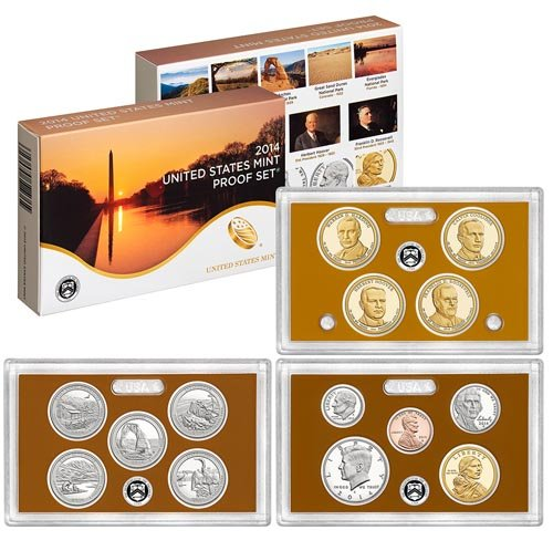 2014 S Clad Proof Set 14 Coins in OGP with Box and COA