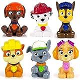 Paw Patrol Mini Figures Set of Six, Rocky, Zuma, Skye, Rubble, Marshall, Chase