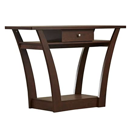 first rate 9dcb4 1039a Amazon.com: Narrow Console Table with Drawer & Shelf Hall ...
