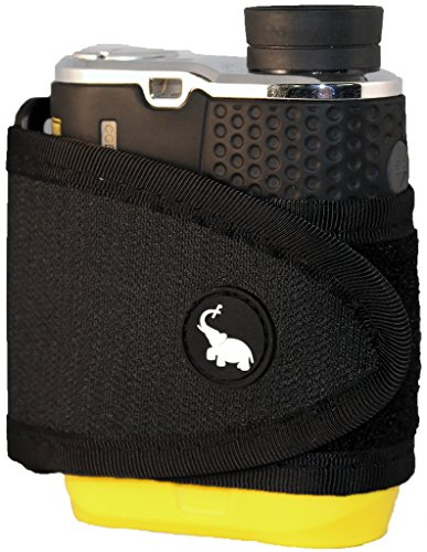 (Monument Golf 1002BK Stick It Classic Series Magnetic Rangefinder Strap, Black)