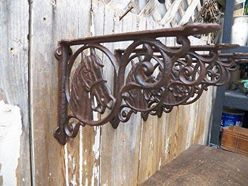 Shelf Brackets Braces Cast Iron HORSE Rustic Antique Style Lot Set of 4