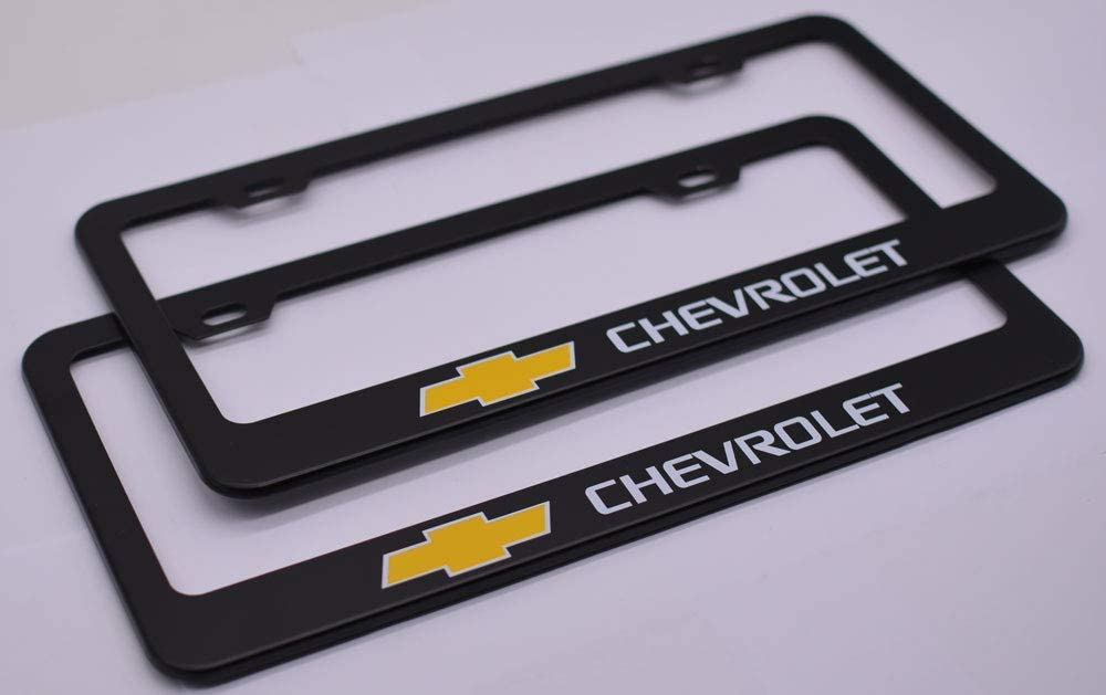 Auto sport 2pcs License Plate Frames with Screw Caps Set Stainless Steel Frame Applicable to US Standard Cars License Plate Fit Car Accessories Fit Hy-undai Accessories