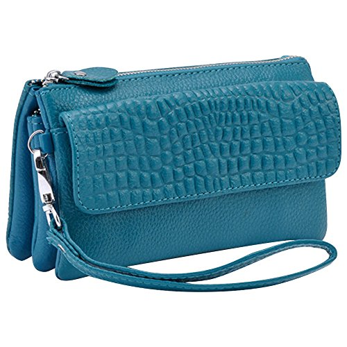 Ocean Ladies Clutch Wristlet Adjustable Bag Handbag Strap Cckuu Shoulder Coffee Large with Blue UPHxw