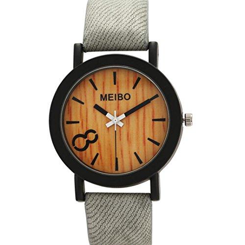 Perman Neutral Simple Fashion Leather Quartz Wrist Watch   Gray