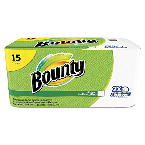 (Bounty Paper Towels, White, 15 Regular)