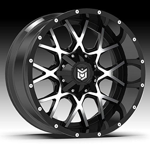 Dropstars 20x9 Machined Black 645MB Rim 5x127 5x139.7