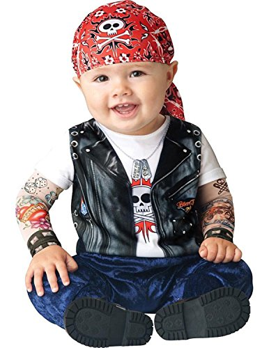 Biker Halloween Costumes Girl (Infant Boy Halloween Costume: Baby Biker Costume (0-6 months))