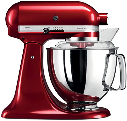 WGC Artisan 5KSM175PSECA 5 Qt.Stand Mixer Candy Apple with TWO Bowls & Flex Edge Beater 220 VOLTS NOT FOR USA