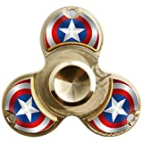 WENSE Fidget Spinner Toy Ultra Durable Pure copper Bearing High Speed 6-9 Min Spins Precision Metal Hand Spinner EDC ADHD Focus Anxiety Stress Relief Boredom Killing Time Toys (captain)