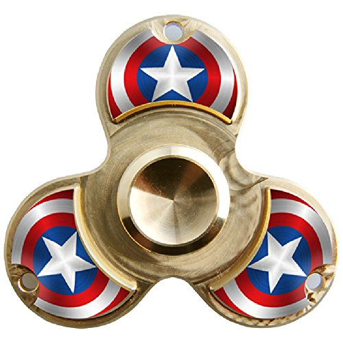WENSE Fidget Spinner Toy Ultra Durable Pure copper Bearing High Speed 6-9 Min Spins Precision Metal Hand Spinner EDC ADHD Focus Anxiety Stress Relief Boredom Killing Time Toys (spiderman) by WENSE (Image #4)