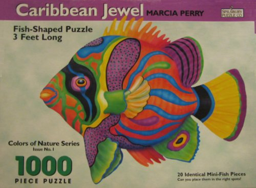 Caribbean Jewel by Marcia Perry - 1000 piece Fish-Shaped puzzle, Spilsbury Puzzle Co. Colors of Nature Series