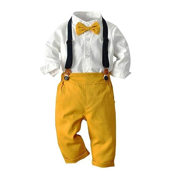 Amazon.com: Trajes de hombre para bebé de 2 piezas, camisas ...