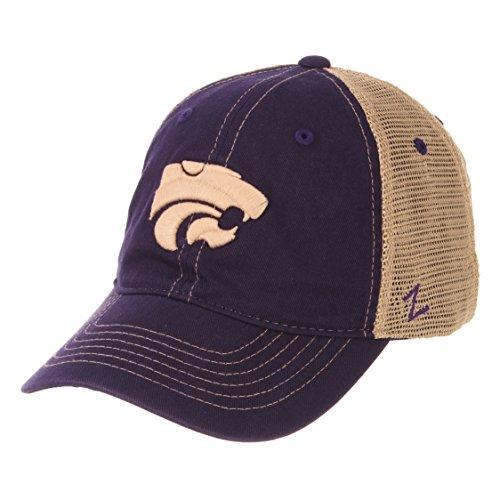 Zephyr NCAA Kansas State Wildcats Men's Institution Relaxed Cap, Adjustable, Purple