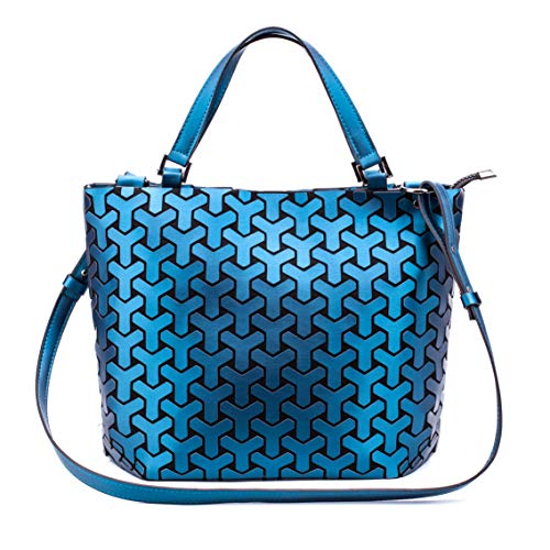 0a0ac3d34 Geometric Luminous Purses and Handbags Holographic Purse Lumikay Bag  Reflective Leather Irredescent Tote Blue