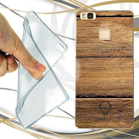 custodia in legno huawei p9 lite
