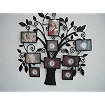 Abbie Home Tree Style 9 Openings Collage Iron Metal Wall Hanging Family Photo Frame