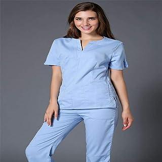 QZHE Abbigliamento medico Abbigliamento Medico Ospedaliero Vestito Medico Dentistico Salone di Bellezza Infermiera Abbigliamento Medico