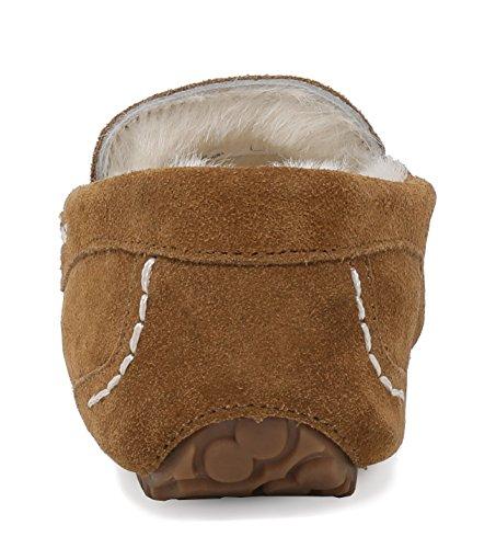 Chesnut Auzy Moccasins Winter Women's PAIRS Slippers DREAM 8vwZ6qZ
