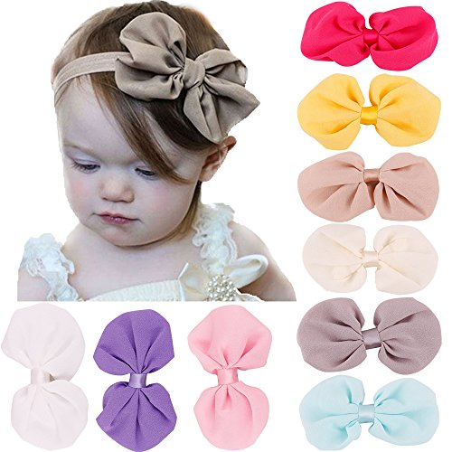 Newborn Baby Headbands with Knotted Bows, Girl's Hairbands for Newborn,Toddler and Children