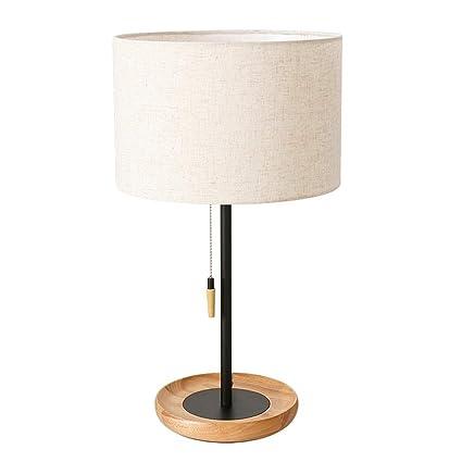 Lámparas de mesa minimalistas modernas iluminación de madera ...