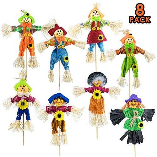 Thanksgiving Yard Stakes (LITA 8PCS Fall Harvest Scarecrow Decor,Thanksgiving Small Autumn Scarecrow Stakes,Halloween Scarecrow Decorations for)