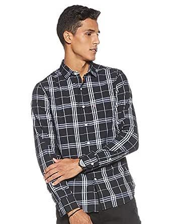 Levi's Men's Checkered Regular fit Casual Shirt (32907-0040_Black_Large)